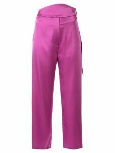 Nanushka Rosebud slip trousers - PURPLE