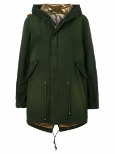 Mr & Mrs Italy cropped hooded parka - Green
