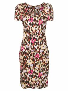 Roberto Cavalli leopard print dress - Red