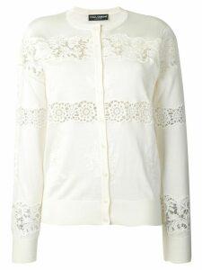 Dolce & Gabbana lace cardigan - White