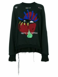 Maison Margiela graphic applique detail sweatshirt - Black