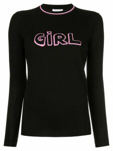 Bella Freud Girl intarsia jumper - Black