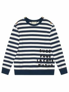 Gucci Cotton sweatshirt with patch - Blue
