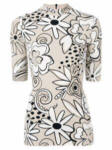 Kwaidan Editions mock neck knitted top - NEUTRALS