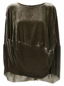 Uma Raquel Davidowicz velvet Ariela blouse - Green