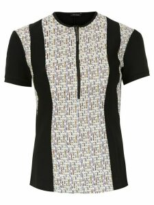 Tufi Duek zipped jacquard blouse - Black