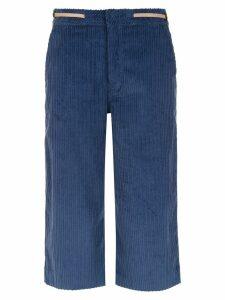 Tufi Duek velvet cropped trousers - Blue