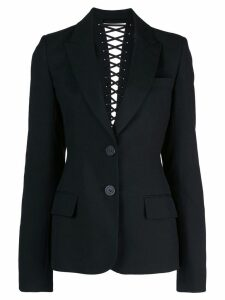 Vera Wang lace up back detail blazer - Black