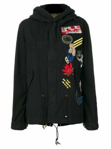 Mr & Mrs Italy patch detail parka - Black
