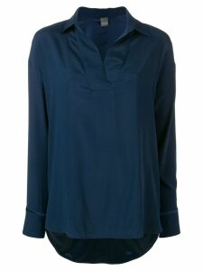 Lorena Antoniazzi long-sleeve shift blouse - Blue