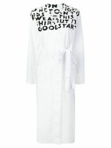 Mm6 Maison Margiela handwriting wrap dress - White