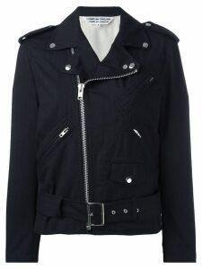 Comme Des Garçons Comme Des Garçons ruffled sleeves biker jacket -
