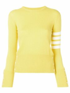 Thom Browne Classic 4-Bar Cashmere Pullover - Yellow