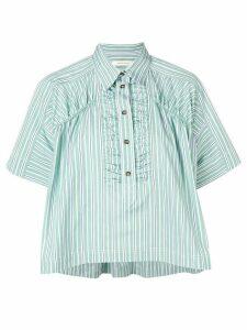 Cédric Charlier box fit striped shirt - Green