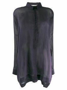 Isabel Benenato sheer batwing sleeve shirt - Purple