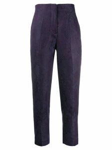 Isabel Benenato cropped patterned trousers - Purple