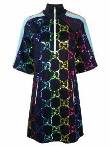 Gucci GG Supreme embellished shift dress - Blue