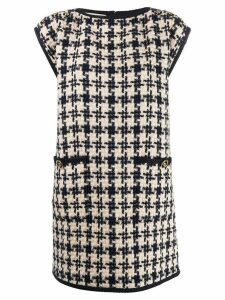 Gucci houndstooth shift dress - Neutrals