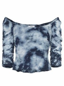 Miaou Madeline tie-dye crop top - Blue