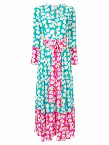 We Are Leone floral print maxi cardigan - Blue
