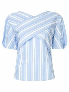 PortsPURE striped criss-cross top - Blue