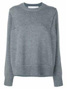 Victoria Victoria Beckham crew-neck jumper - Grey