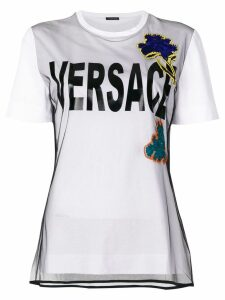 Versace embroidered flower T-shirt - White