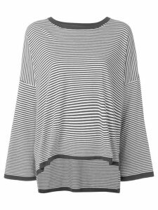 P.A.R.O.S.H. striped oversized jumper - Black