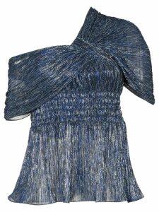 Peter Pilotto metallic off-shoulder blouse - Blue