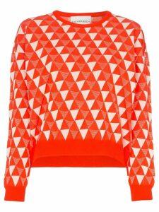 Rudi Gernreich Geometric print cotton blend jumper - White
