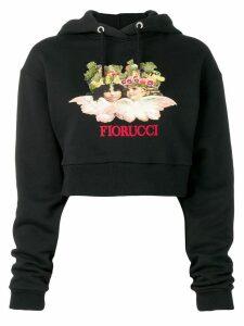 Fiorucci Angels Fruit Crop Hoodie - Black