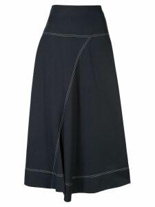 Lee Mathews Jackie asymmetric skirt - Blue