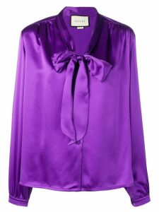 Gucci tie-front blouse - Purple