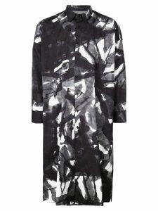 Yohji Yamamoto oversized print shirt - Grey