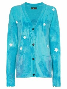 AMIRI star embroidered cardigan - Blue