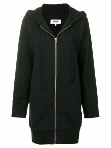 Mm6 Maison Margiela zip-off sleeve hoodie - Black