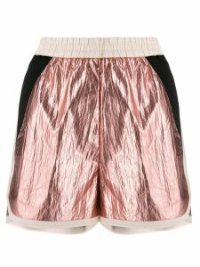 8pm metallic track shorts - Pink