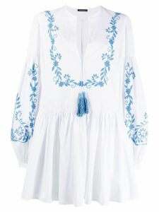 Wandering embroidered mini dress - White