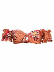 Patbo floral off-shoulder top - Orange