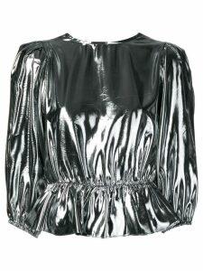 Isabel Marant metallic blouse - SILVER