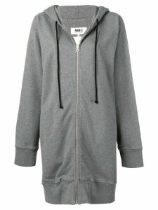 Mm6 Maison Margiela oversized zip hoodie - Grey