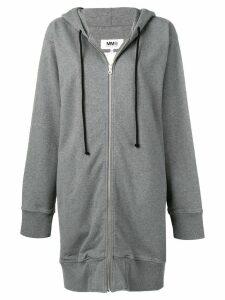 Mm6 Maison Margiela oversized zip hoodie - Grey