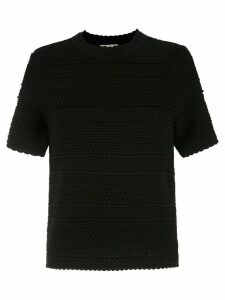 Egrey knit blouse - Black