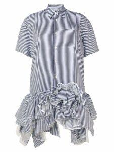 Junya Watanabe frilly shirt dress - Blue