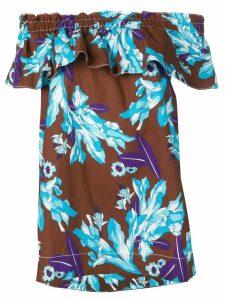 P.A.R.O.S.H. floral blouse - Blue