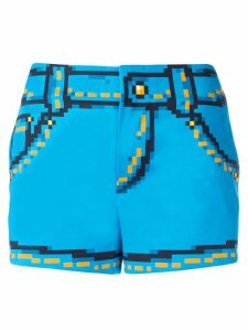 Moschino 8bit printed shorts - Blue