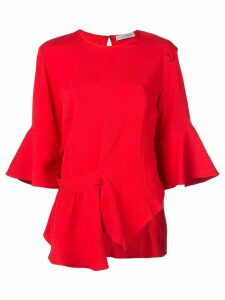 Palmer / Harding asymmetric hem blouse - Red