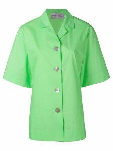 George Keburia cropped back shirt - Green