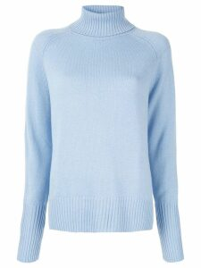 Lee Mathews Cashmere Turtleneck Sweater - Blue