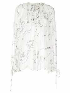 Lee Mathews Gypsy silk blouse - White